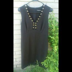 IVANKA TRUMP Black Grommet Party or Career Dress